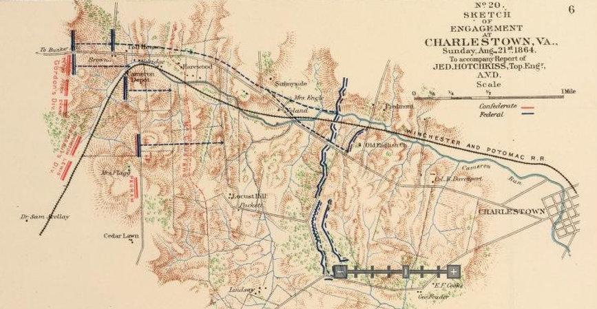Map of Charlestown, VA